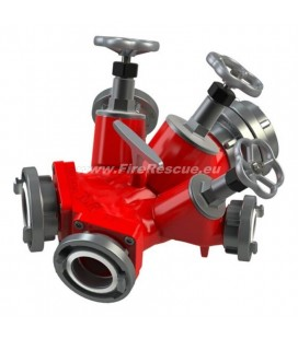 TRIPLE WATER DISTRIBUTER BB/CBC WITH SCREW DOWN VALVES